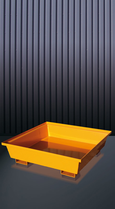 Auffangwanne aus Stahl mit konischen Seitenwänden Typ 3010