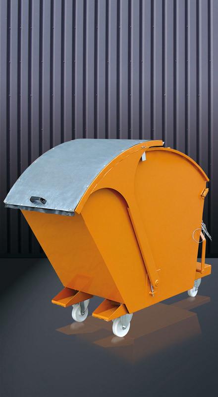 Abfallcontainer zum Kippen mit Runddeckel 2026