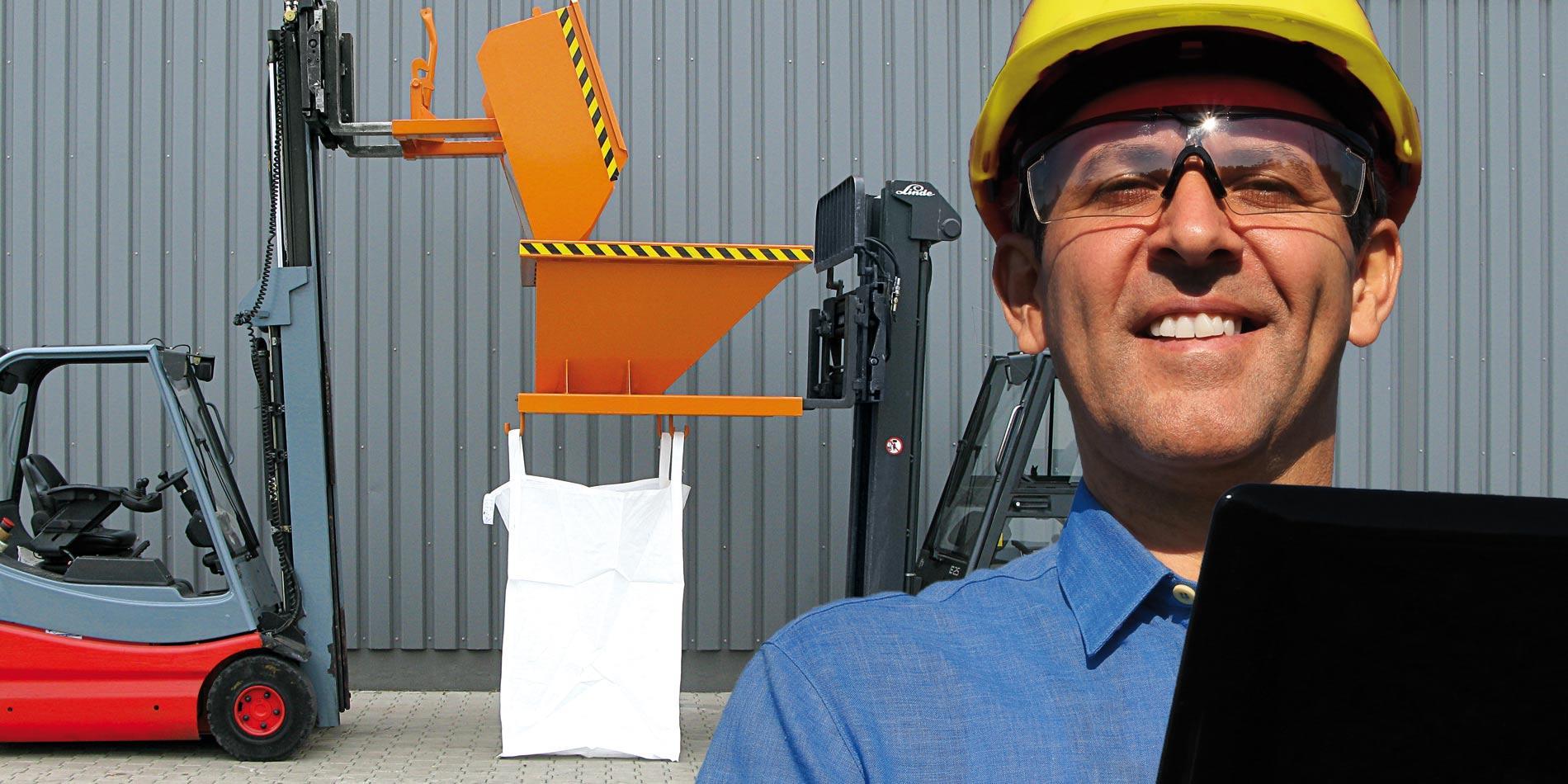 Gabelstapler Anbaugeräte von Eichinger Industrie: gefertigt in Deutschland