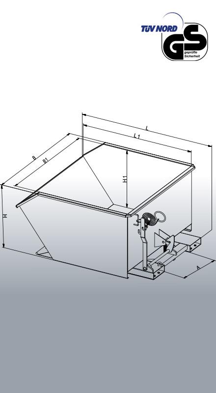 Beistell-Kippbehälter 2012 Konstruktionszeichnung