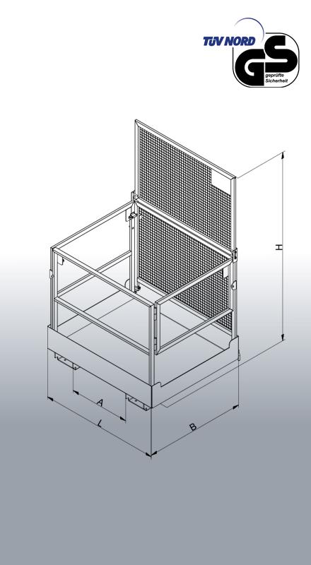 Zerlegbarer Arbeitskorb für Stapler Typ 1073.3