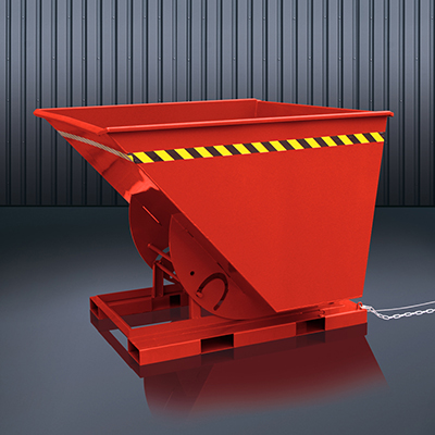Abrollkufen-Kippbehälter 2013 RAL 3000
