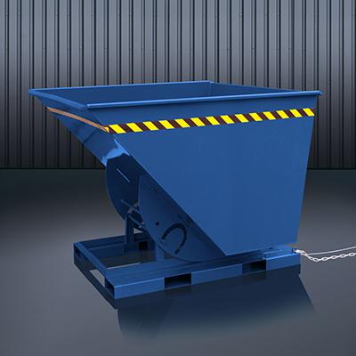 Abrollkufen-Kippbehälter 2013 RAL 5010