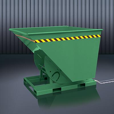 Abrollkufen-Kippbehälter 2013 RAL 6011