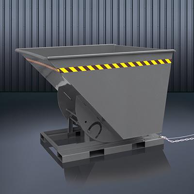 Abrollkufen-Kippbehälter 2013 RAL 7016