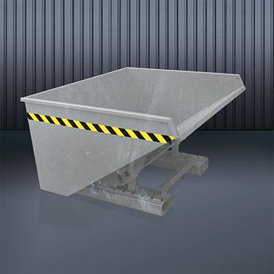 Abrollkufen-Kippbehälter 2023 verzinkt