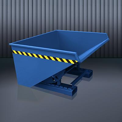Abrollkufen-Kippbehälter 2023 RAL 5010