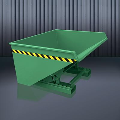 Abrollkufen-Kippbehälter 2023 RAL 6011