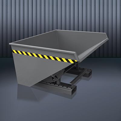 Abrollkufen-Kippbehälter 2023 RAL 7016