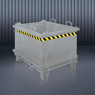 Klappbodenbehälter 2032 verzinkt