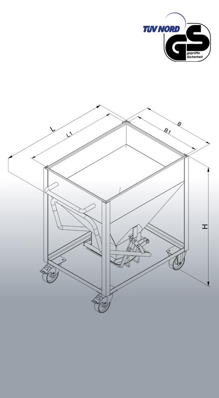 Silowagen 2051 Zeichnung mit Maßen