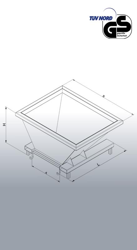 Befülltrichter 2056 Zeichnung mit Bemaßung